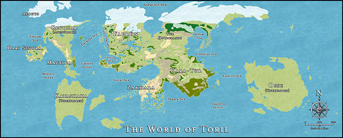 Toril World Map